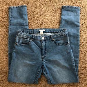 H&M Light Blue Stretch Skinny Jeans size 10
